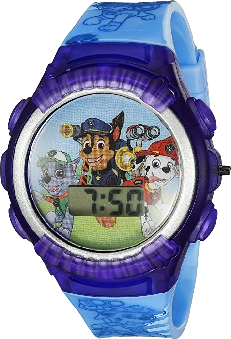 Amazon.com: Nickelodeon Kids PAW4039 Paw Patrol Digital Display Quartz Blue Watch: Watches