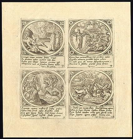 Amazon.com: 6 Antique Prints-VISION-BIBLE BOOK-REVELATION-APOCALYPSE-De Jode-Snellinck-1784: Posters & Prints