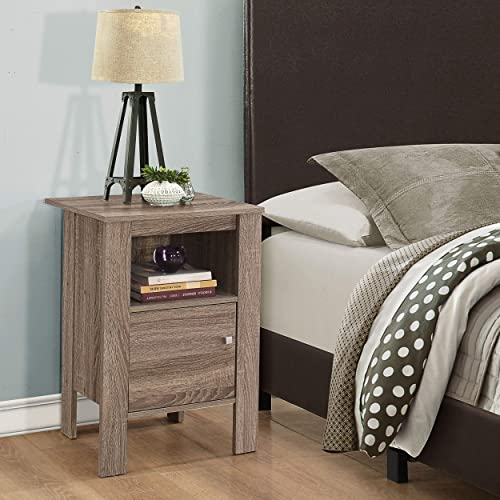 Fortress Nightstand with Storage Dark Taupe