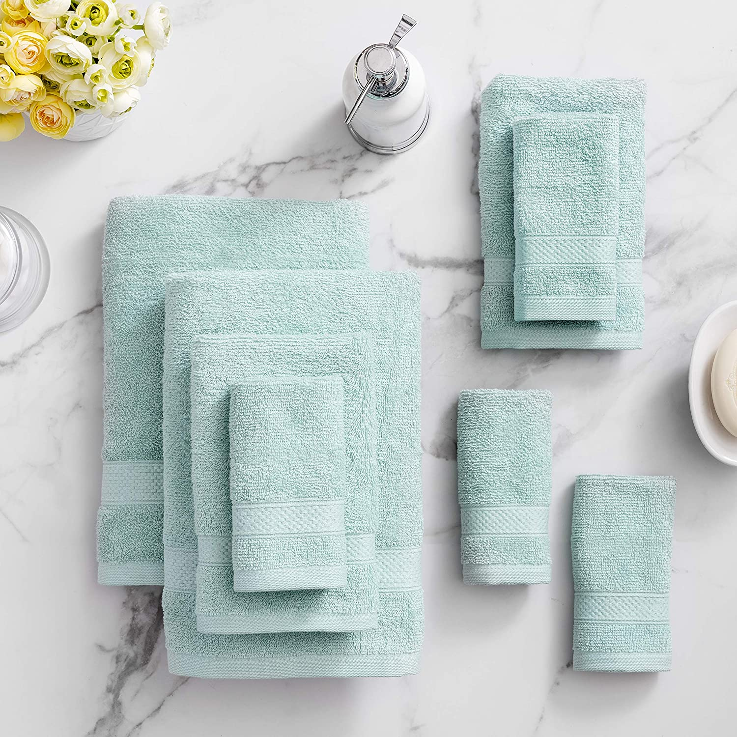 Soft Feel Hand Towel Pack 2 Hand Towels Quick Dry Craft Native White, 2 Hand Towels Highly Absorbent Towels Set Premium 500 GSM 100/% Egyptian Cotton
