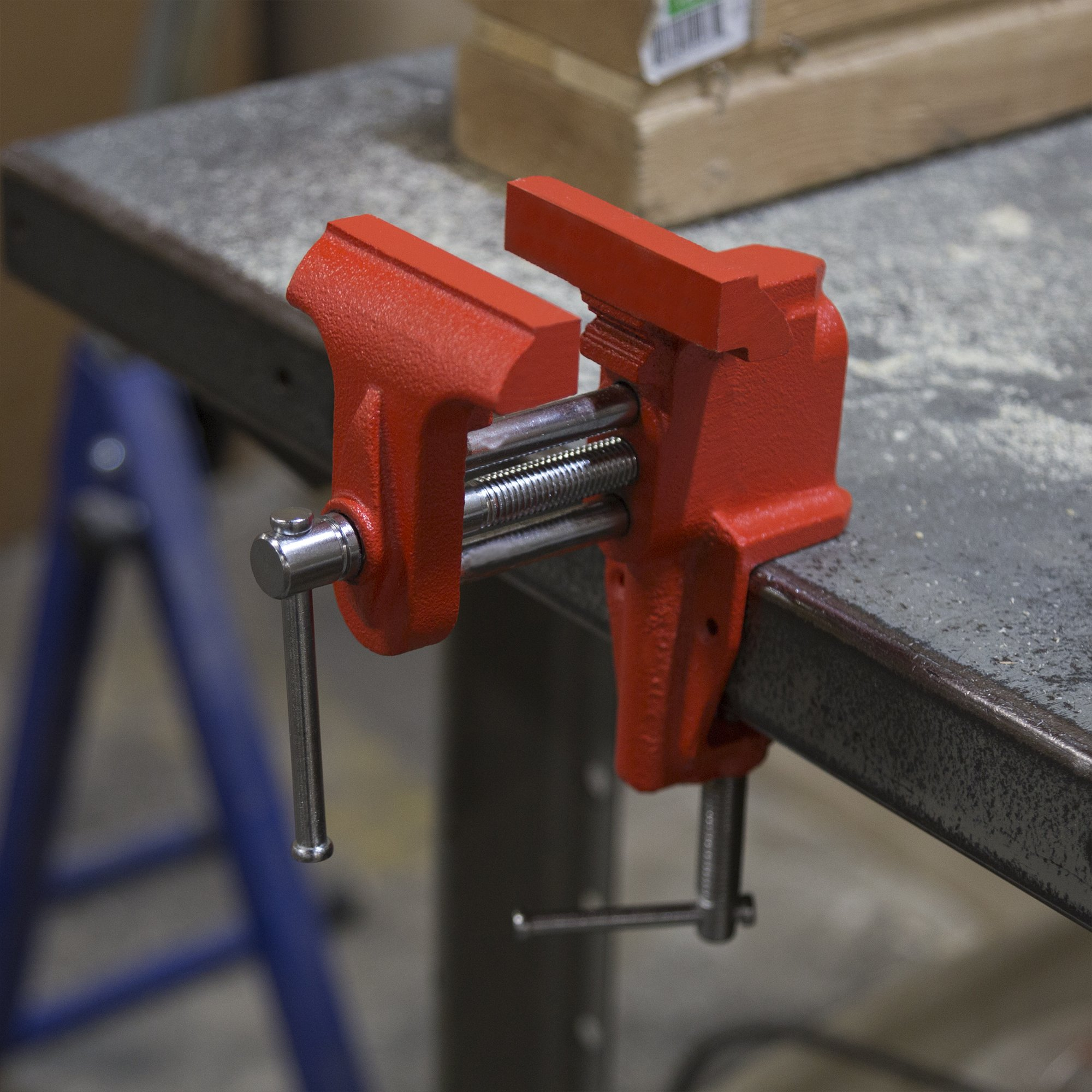 """Stalwart Clamp On Vise with 3 Inch """"V"""" Jaw for Table and Bench- Cast Iron Workbench Clamping Tool for Precision, DIY, Small Repairs and More by Stalwart (Image #3)"""