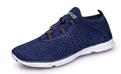 2ccee2cdd9cc Vibdiv Men s Water Shoes Aqua Quick Drying Mesh Outdoor Shoes(6 UK