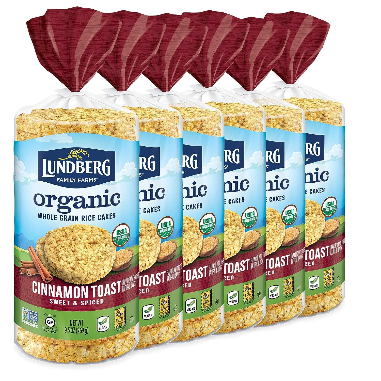 Lundberg Brown Rice Cakes, Organic Cinnamon Toast, 57 Oz