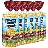 Lundberg Organic Cinnamon Toast Brown Rice Cakes, 9.5 Ounce (Pack of 6), Gluten-Free, Vegan, USDA Certified Organic, Non-GMO