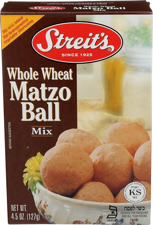 Streits Whole Wheat Matzo Ball Mix Kosher For Passover 4.5 Oz (Single)