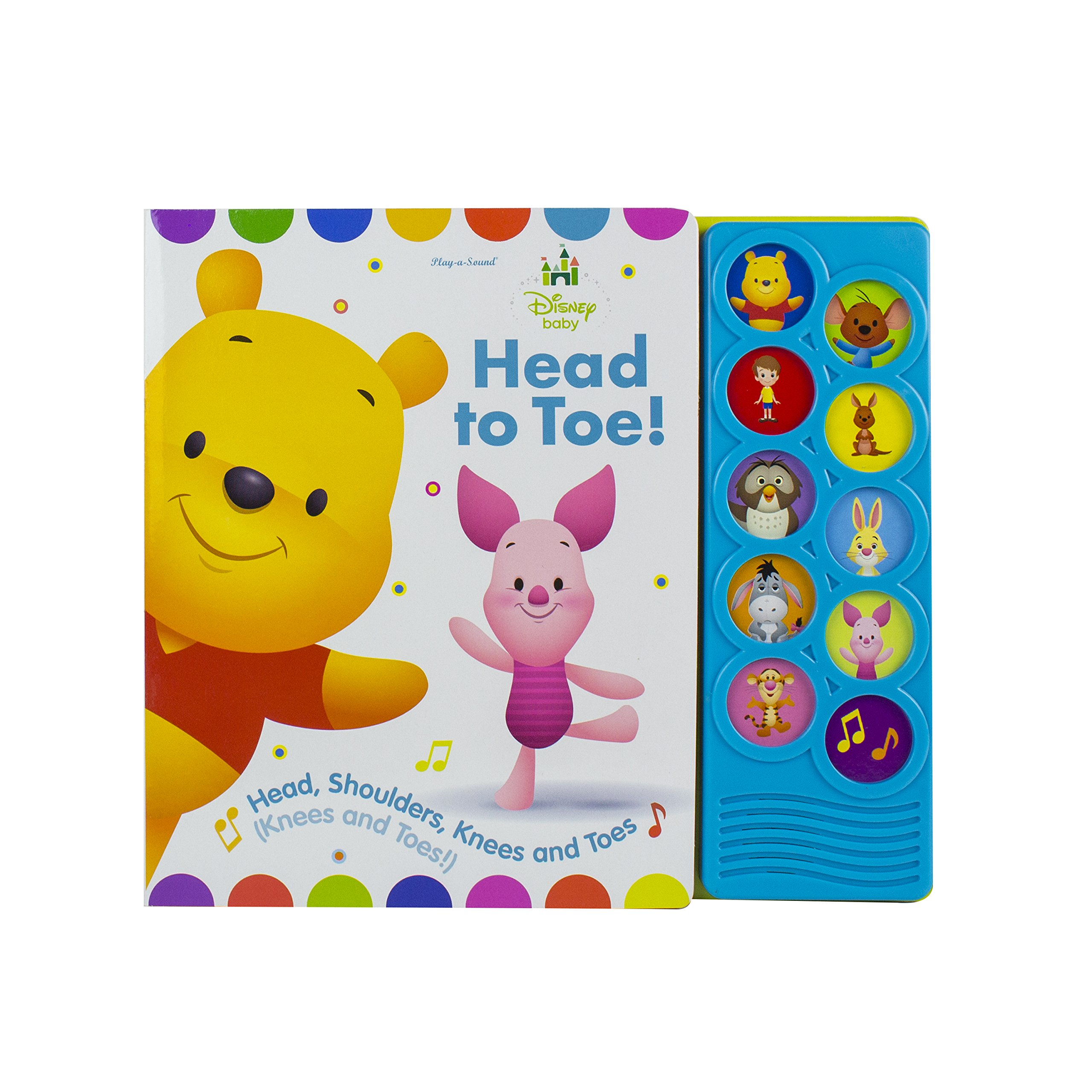 6b9dbe102 Disney Baby - Winnie the Pooh - Head to Toe! - Play-a-Sound - PI Kids  (Disney Baby  Play-a-Sound) Board book – Sound Book