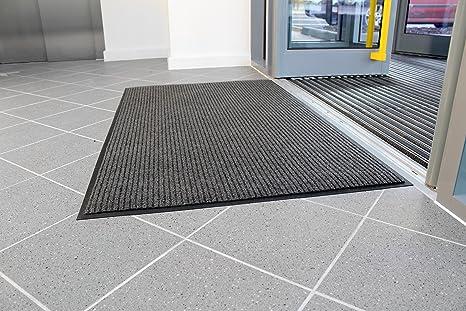 Ufficio Pavimento Grigio : Tappeto di pulizia striato l l mm grigio stecche