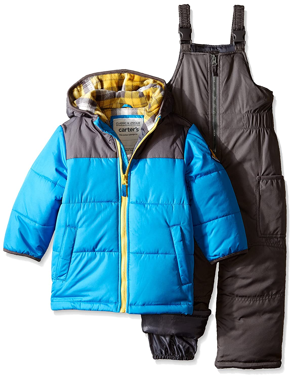 Carter's Little Boys' Puffer Coat Snowsuit, Blue, 5/6 Carter's 1221283