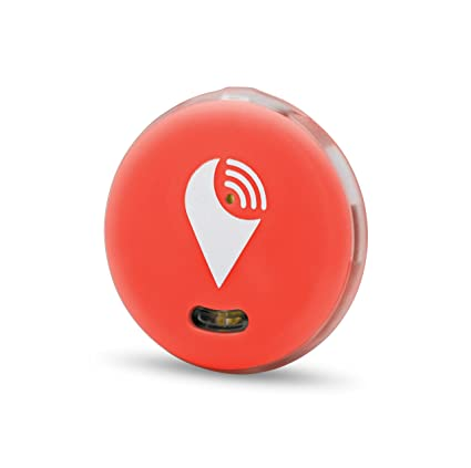 TrackR Pixel - Bluetooth Tracking Device  Key Tracker  Phone Finder  Wallet  Locator (Red)