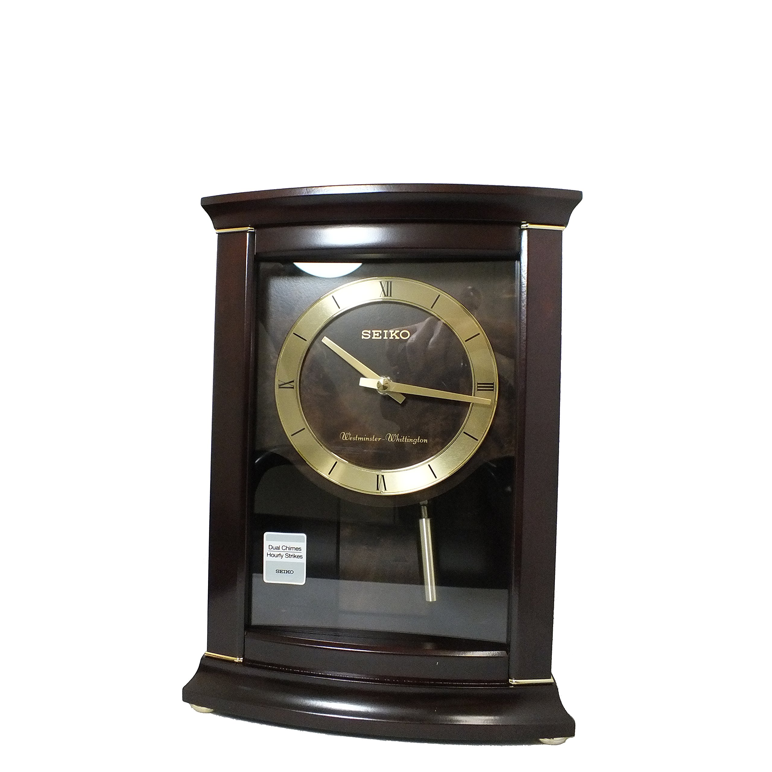 Seiko QXQ033BLH Japanese Quartz Shelf Clock by Seiko