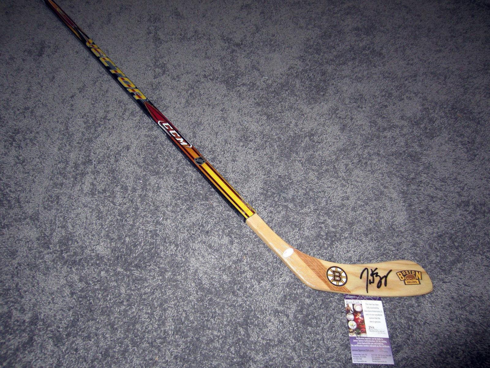 Patrice Bergeron Signed Stick w COA JSA Certified Autographed NHL Sticks