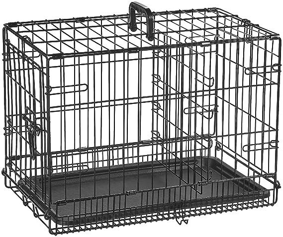 AmazonBasics - Jaula plegable de metal para mascota (una puerta, 56 cm largo): Amazon.es: Productos para mascotas