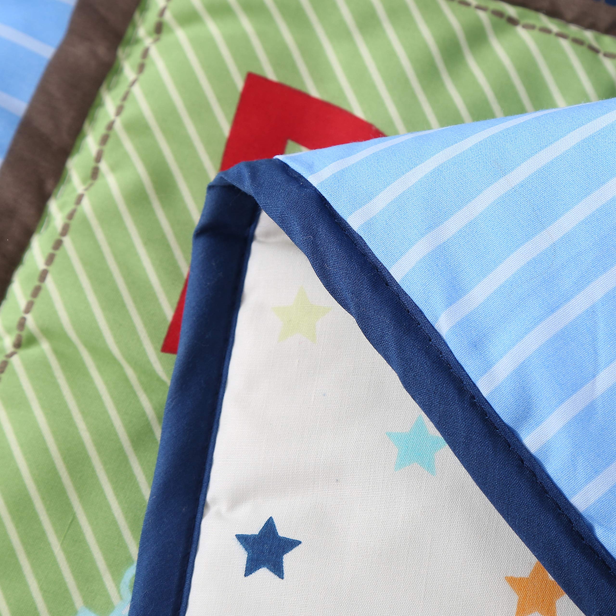 Wowelife Blue Crib Bedding Sets for Boys 7 Piece Travel Car and Airplane for Baby(Little Pilot) by Wowelife (Image #9)
