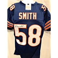 Roquan Smith Chicago Bears Signed Autograph Blue Custom Jersey Beckett Witnessed Certified photo