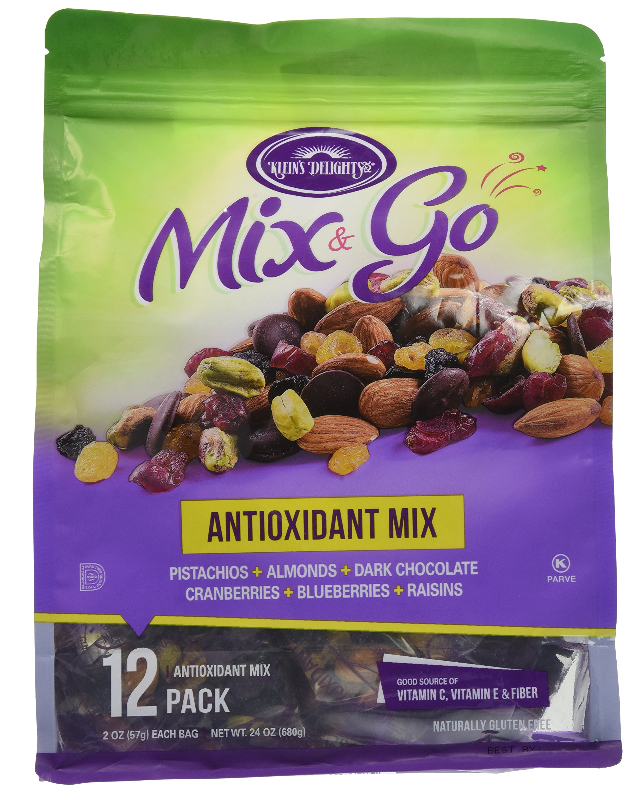 Mix & Go Antioxidant Nuts Mix 24 oz (contains 12 packs of 2 oz. bags)