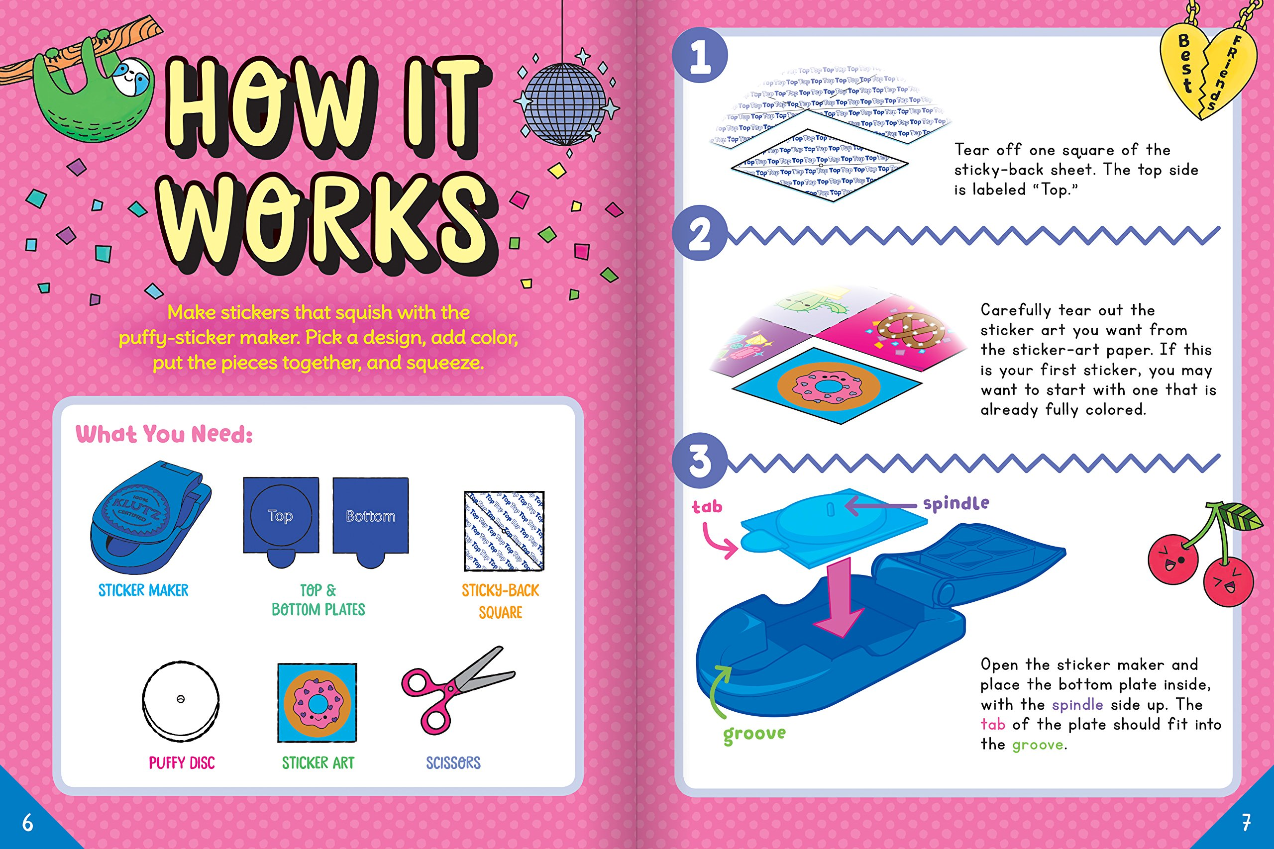 Make your own puffy stickers klutz 9781338210194 books amazon ca