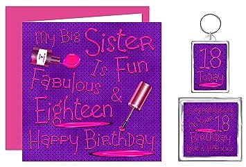 My Big Sister 18th Happy Birthday Gift Set