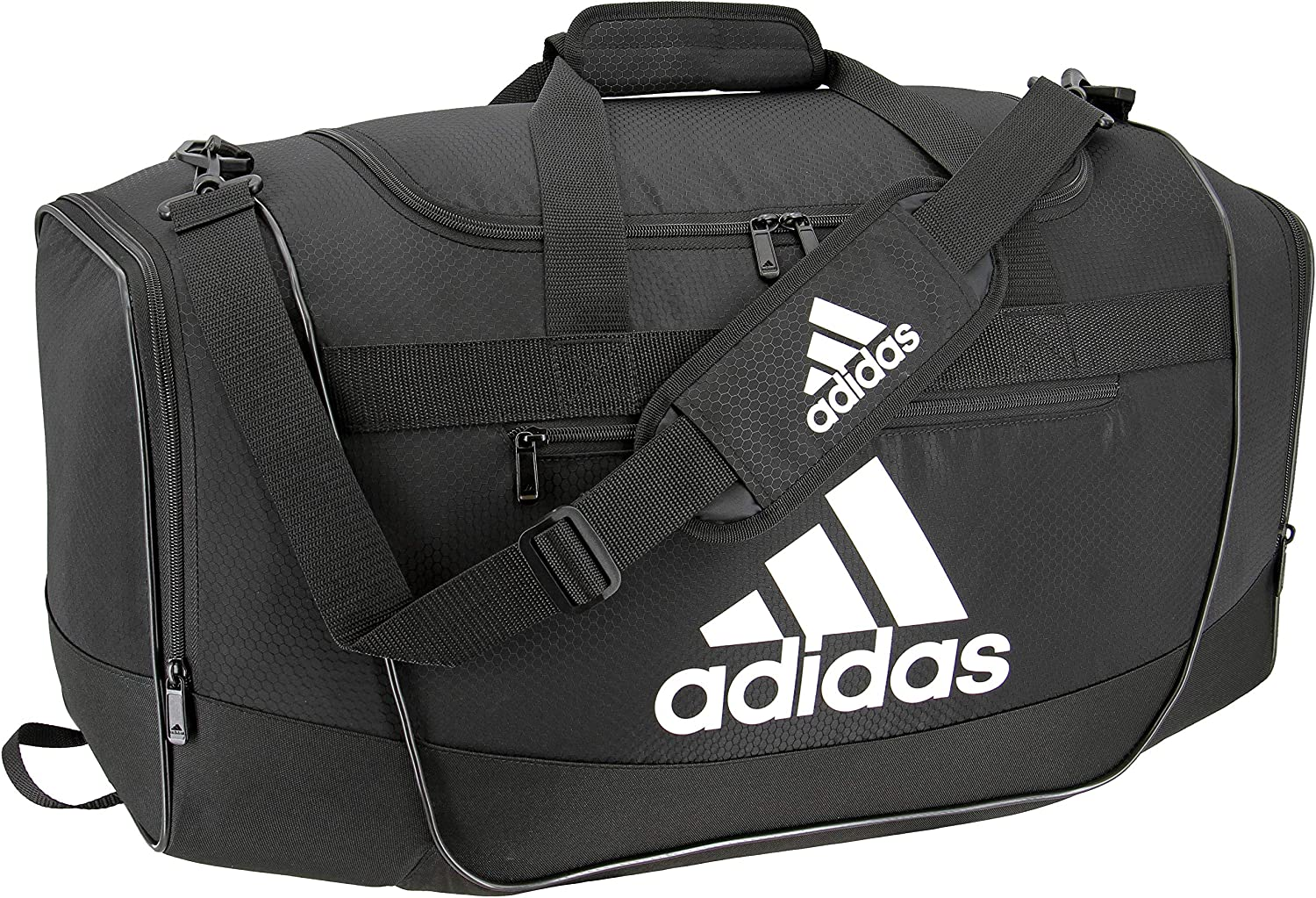 adidas Defender III Duffel Bag, Black/White, Large : Clothing