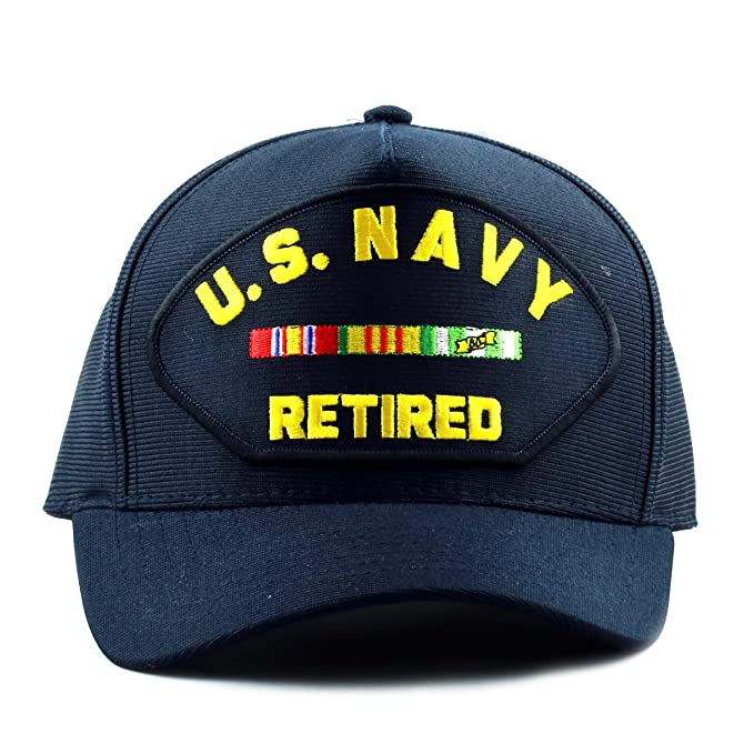 6a173f6200b The Hat Depot Made in USA U.S. Navy Retired Baseball Cap at Amazon ...