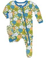 KicKee Pants Baby-girls Newborn Print Ruffle Footie