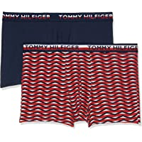 Tommy Hilfiger Men's 2-Pack Print Trunks, Navy/White/Red