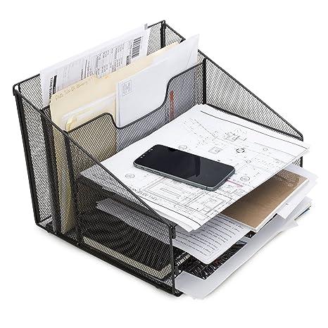 Unique Amazon.com : Desktop File & Letter Organizer By LTI: Metal Paper  ZP02
