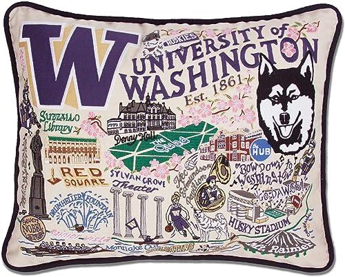Catstudio University of Washington Collegiate Embroidered Decorative Throw Pillow