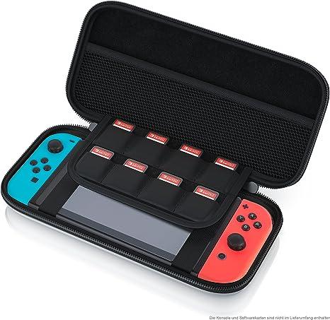 CSL - Funda para Nintendo Switch - Estuche con bolsillo de malla y ...