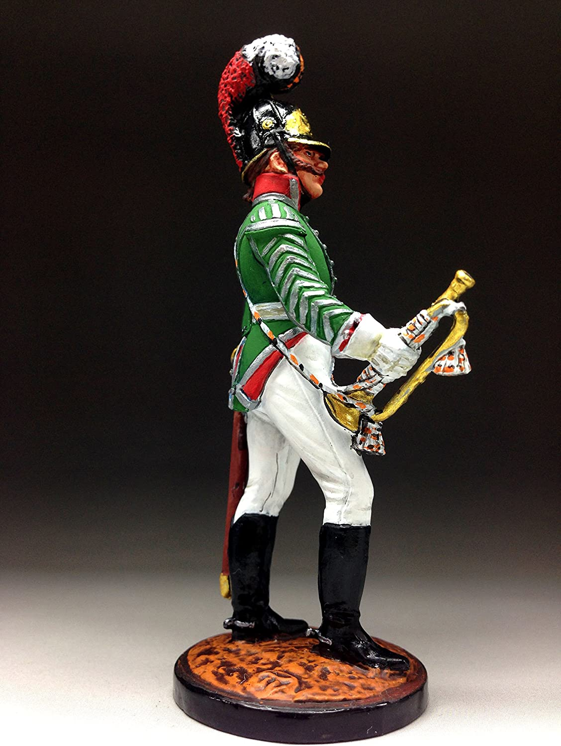 Tin Soldiers 54mm 1//32 Trumpeter of the Moscow Dragoon regiment Russia 1803 N-1