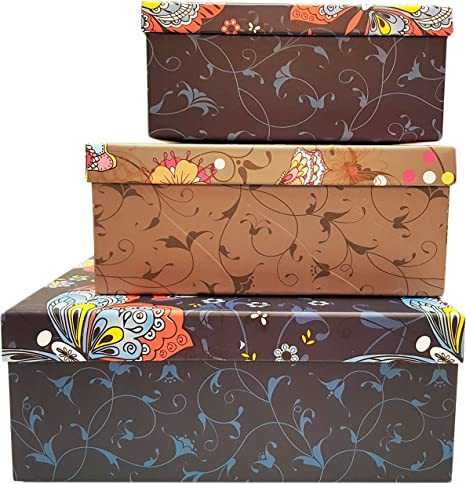 Amazon.com: Alef Elegant Decorative Themed Nesting Gift Boxes! Beautiful Butterfly Nesting Boxes Beautifully Themed and Decorated - Perfect for Gifts or Simple Decoration Around the House! (Butterfly Pattern): Home Improvement