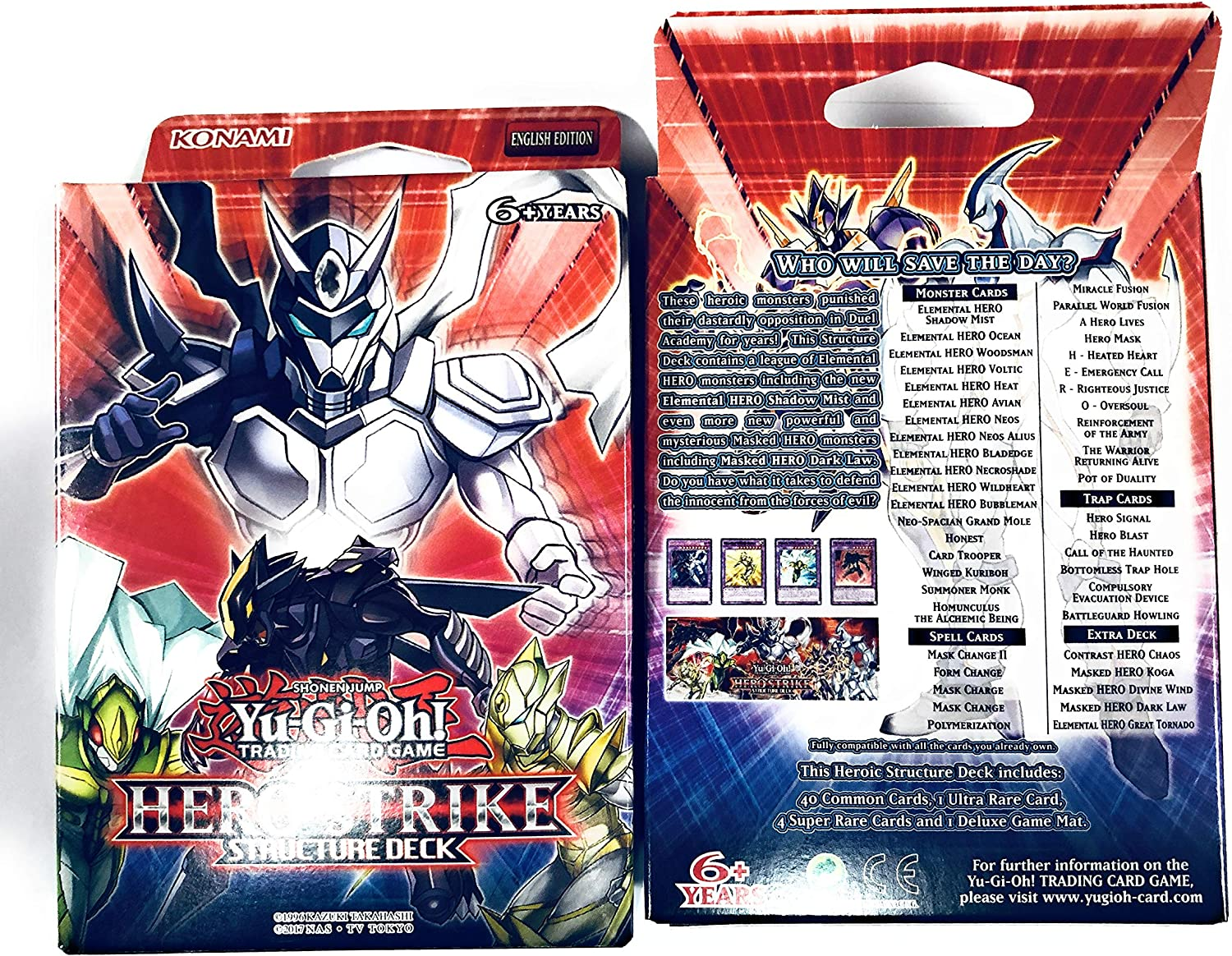YUGIOH ENGLISH HERO STRIKE STRUCTURE DECK LOT OF 2 FREE SAME DAY SHIPPING