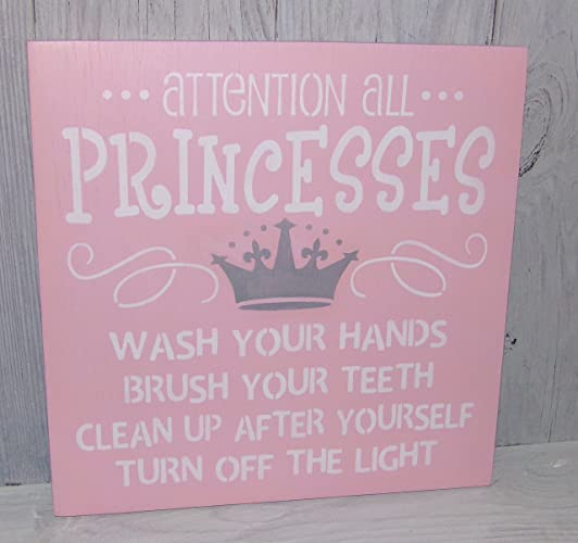 Amazoncom Attention All Princesses Wash Your Hands Brush Your