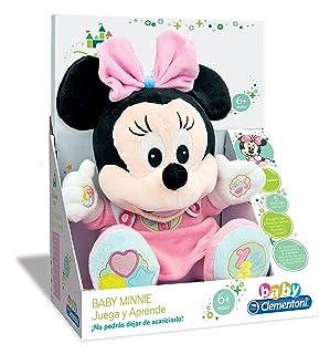 Clementoni - 30X22X12 17-65.192 - Minnie Gioca e Impara, peluche educativo con filastrocche per imparare i numeri, le lettere e i colori Clementoni Spa Italy Baby Disney