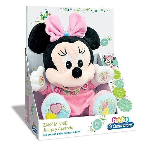 Clementoni Animales de Cine y Television Peluche Juega y aprende Minnie, Color Rosa (65192.4