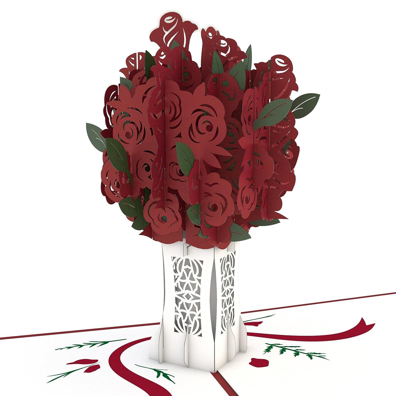 Tarjeta En 3d Rose Bouquet