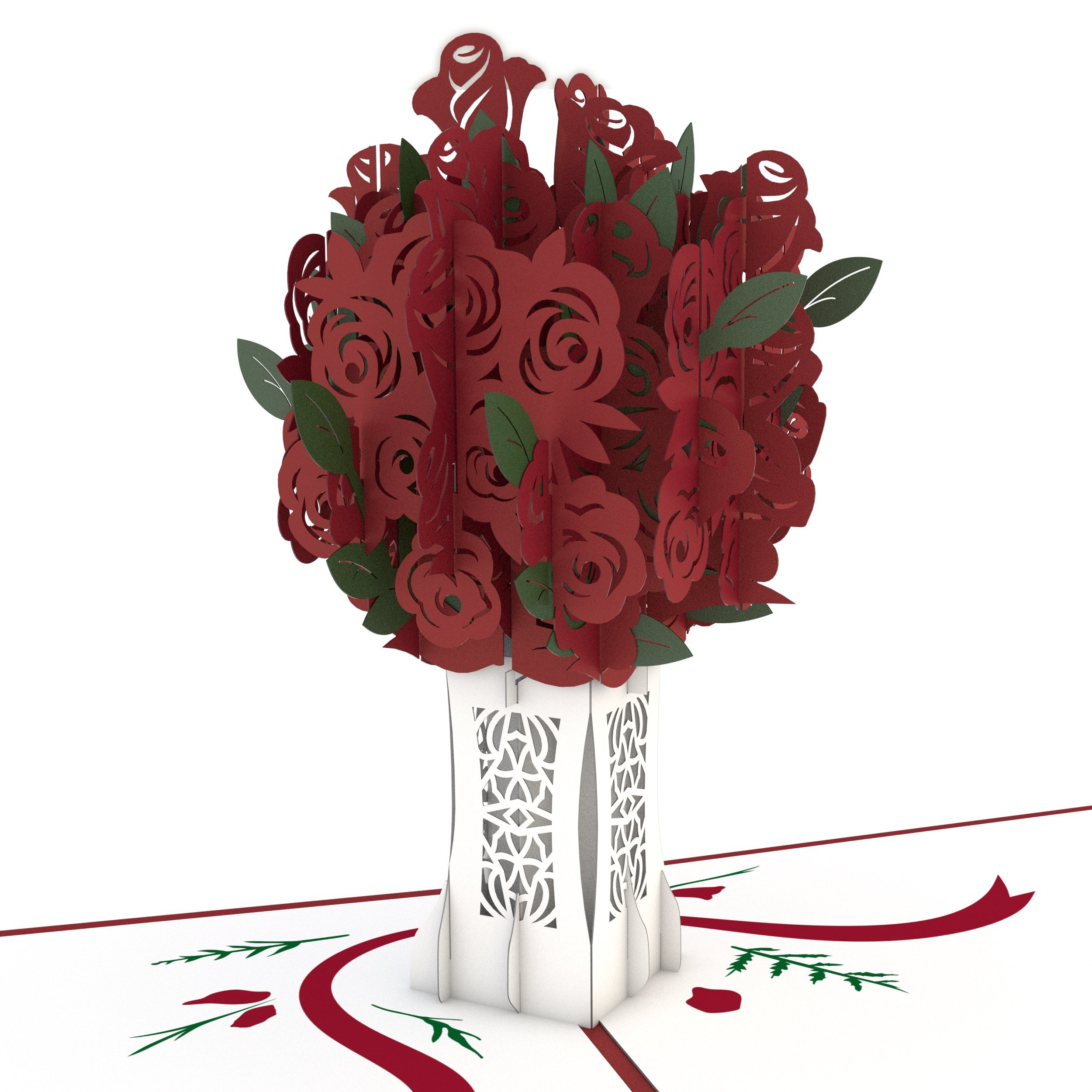 Lovepop Rose Bouquet Pop Up Card 3d Card Flower Card Romance Card