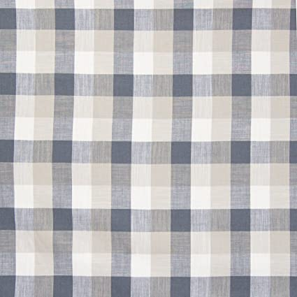 Amazon Com Grey Gray Plaid Check Houndstooth Woven Linen Upholstery