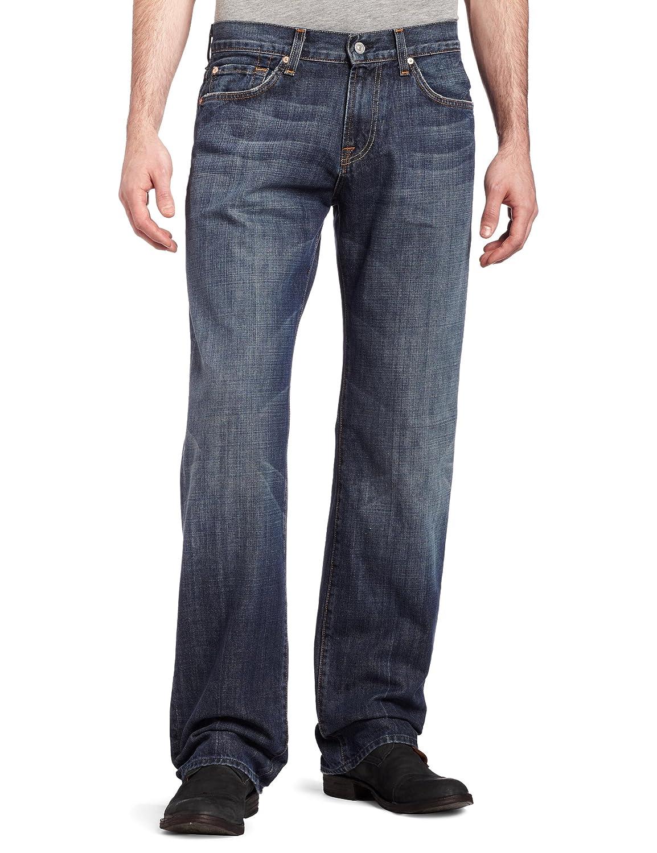 28 New York Dark 7 For All Mankind Mens Austyn Relaxed Straight-Leg Jean in New York Dark