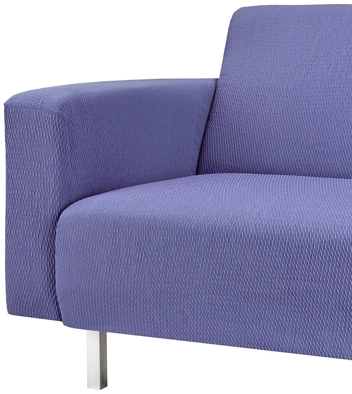 Martina Home Tunez - Funda elástica para sofá, Lila, 2 Plazas (120-190 cm)
