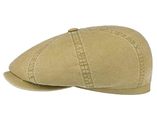 b89ba6a9c2fe32 Stetson Men's Hatteras Delave Organic Cotton Flat Cap at Amazon ...
