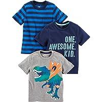 Simple Joys by Carter's Paquete de 3 Playeras de Manga Corta con Gráficos. Infant-and-Toddler-t-Shirts Bebé-Niños (Pack…