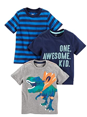 4a728d621 Simple Joys by Carter's Baby Boys' Toddler 3-Pack Graphic Tees, Awesome,