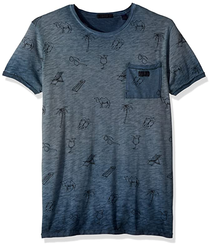 Amazon.com  Scotch   Soda Men s Oil-Washed Tee with Cut   Sewn Styling   Clothing 2308c1627a