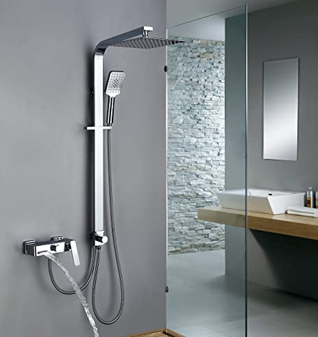 Wasserablauf Dusche homelody trennbar duschsystem mit messing duschpaneel duscharmatur