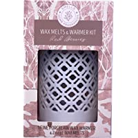 SMELLS Porcelain Wax Warmer + 2 Oz of Wax Melts for Aromatherapy with The Scent of Your Preference. Porcelain Tea Light…