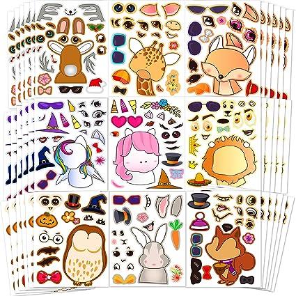 Making Animals Face Make Your Own Sticker Children Home Party School Art Craft Kit
