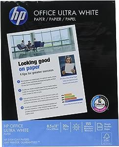HP Office Copy/Laser/Inkjet Paper, 92 Brightness, 20lb, Letter, 500 Sheets Per Ream, 2500 Sheets Per Carton, HPC115R (172160)