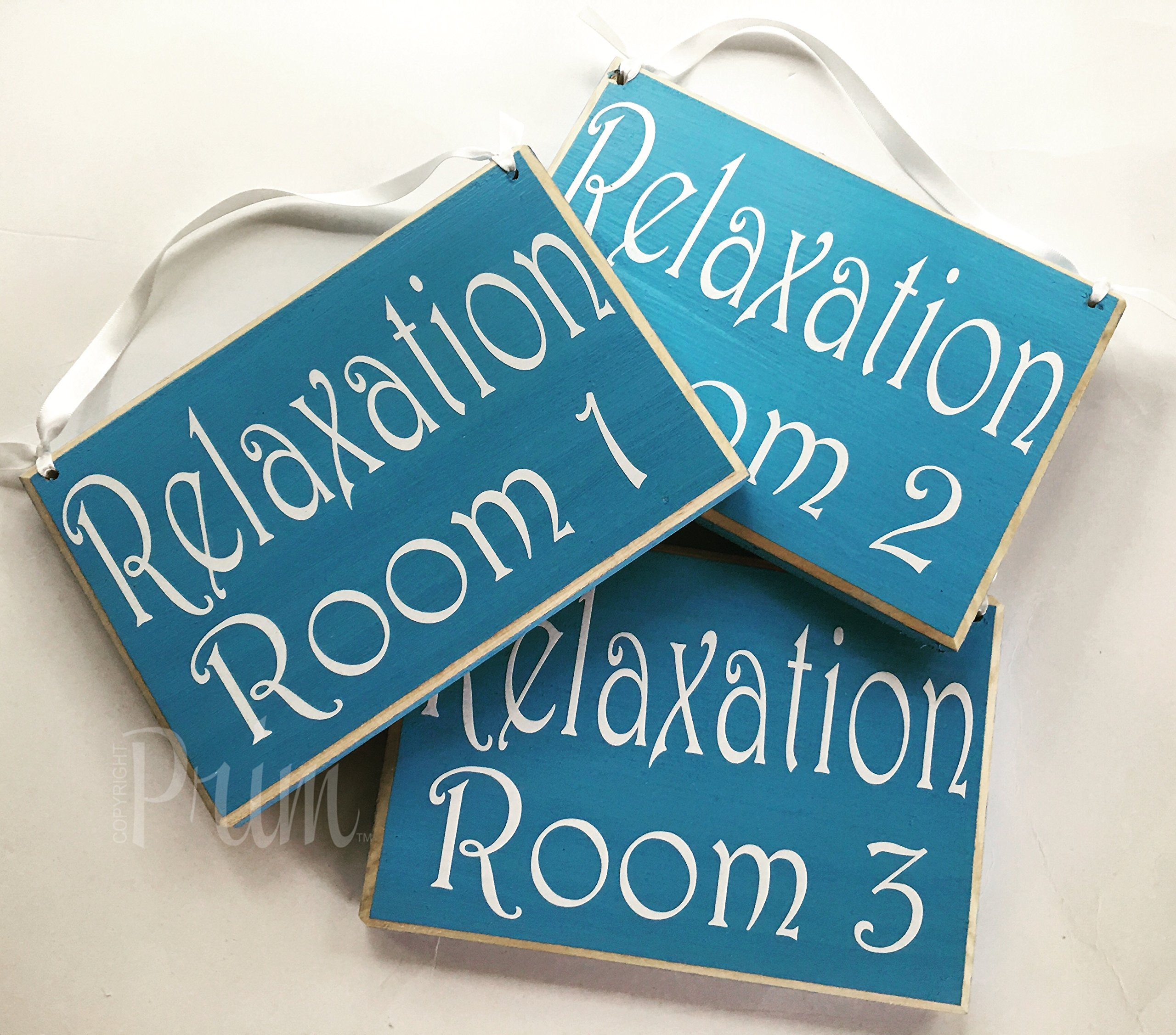 8x6 Relaxation Room Number (Choose Color) Custom Wood Sign Welcome Home Office Spa Reflexology Massage Meditation Waiting Room Patient Door