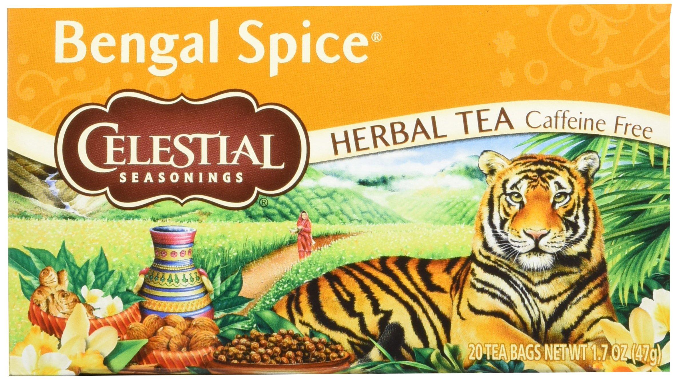 Celestial Seasonings, Bengal Spice, Caffeine Free Herbal Tea, 20 Tea Bags