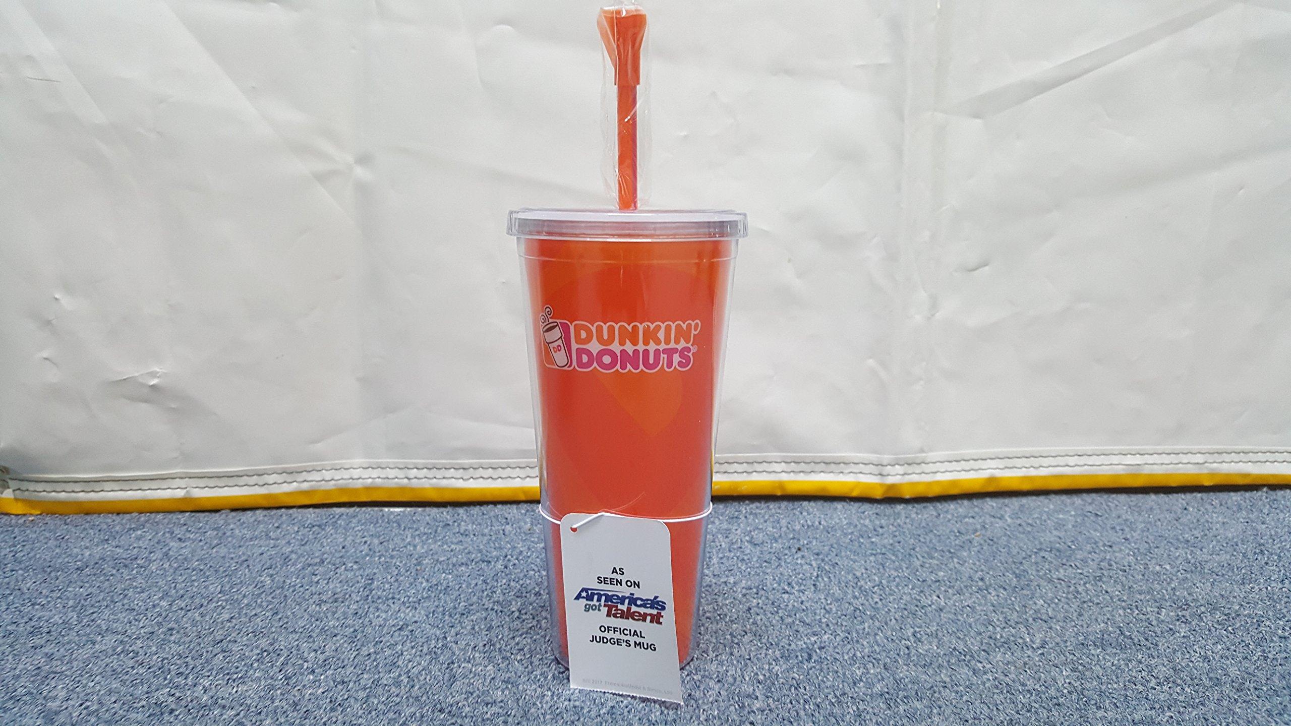 Dunkin Donuts Americas Got Talent Official Judges Mug Tumbler (Orange)